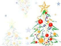 De achtergrond van Kerstmis met Kerstmisboom Royalty-vrije Stock Fotografie