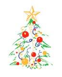 De achtergrond van Kerstmis met Kerstmisboom Royalty-vrije Stock Afbeeldingen