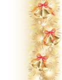 De achtergrond van Kerstmis met klokken Stock Foto's