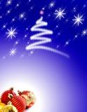 De Achtergrond van Kerstmis met Ornamenten stock afbeelding