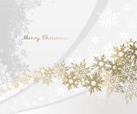 De achtergrond van Kerstmis met sneeuwvlokken Royalty-vrije Stock Fotografie