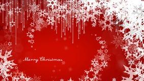 De achtergrond van Kerstmis met sneeuwvlokken Royalty-vrije Stock Foto's