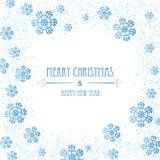 De achtergrond van Kerstmis met sneeuwvlokken Stock Fotografie