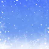 De achtergrond van Kerstmis met sneeuwvlokken Stock Afbeeldingen