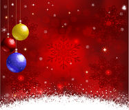 De achtergrond van Kerstmis met sneeuwvlokken Stock Afbeelding