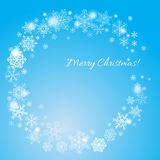 De achtergrond van Kerstmis met sneeuwvlokken Royalty-vrije Stock Afbeeldingen