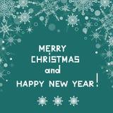 De achtergrond van Kerstmis met sneeuwvlokken Royalty-vrije Stock Foto