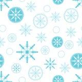 De achtergrond van Kerstmis met sneeuwvlokken Stock Illustratie
