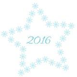 De achtergrond van Kerstmis met sneeuwvlokken Vector Illustratie
