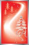 De achtergrond van Kerstmis met sneeuwvlokken, vector vector illustratie