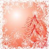 De achtergrond van Kerstmis met sneeuwvlokken, vector Stock Afbeelding