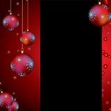 De achtergrond van Kerstmis met snuisterijen Royalty-vrije Stock Foto