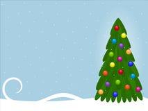 De achtergrond van Kerstmis met spar royalty-vrije illustratie