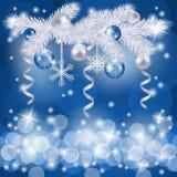 De achtergrond van Kerstmis met spar Stock Afbeelding