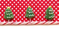 De achtergrond van Kerstmis met suikergoed Royalty-vrije Stock Afbeeldingen