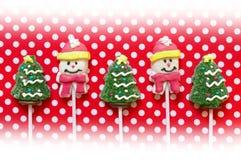 De achtergrond van Kerstmis met suikergoed Stock Afbeelding