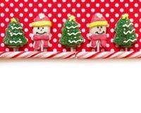 De achtergrond van Kerstmis met suikergoed Stock Foto