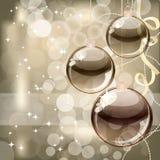 De achtergrond van Kerstmis met transparante ballen vector illustratie