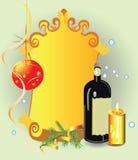 De achtergrond van Kerstmis met wijnstok royalty-vrije illustratie