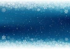 De achtergrond van Kerstmis met witte sneeuwvlokken Stock Foto's