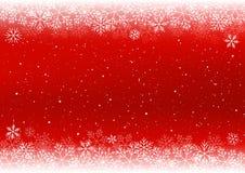 De achtergrond van Kerstmis met witte sneeuwvlokken Stock Afbeelding