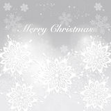 De achtergrond van Kerstmis Moderne vakantieachtergrond met sneeuwvlokken Royalty-vrije Stock Afbeelding