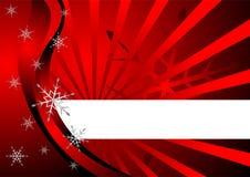 De achtergrond van Kerstmis over rood Stock Foto's