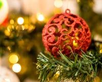 De achtergrond van Kerstmis van vage lichten royalty-vrije stock afbeeldingen