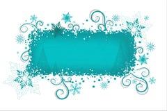 De achtergrond van Kerstmis van Aqua   Stock Foto