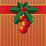 De Achtergrond van Kerstmis van de Bladeren van de hulst Stock Fotografie