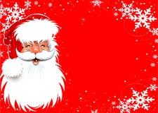 De achtergrond van Kerstmis van de Kerstman Stock Foto's