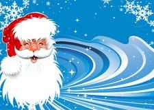 De achtergrond van Kerstmis van de Kerstman Stock Afbeelding