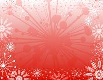 De Achtergrond van Kerstmis van de sneeuwvlok stock illustratie