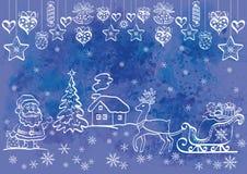 De achtergrond van Kerstmis van de vakantie Royalty-vrije Stock Afbeeldingen