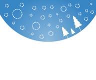 De achtergrond van Kerstmis van de winter Royalty-vrije Stock Afbeeldingen