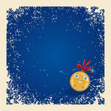 De achtergrond van Kerstmis/van de winter met gelukkige klok. Royalty-vrije Stock Fotografie
