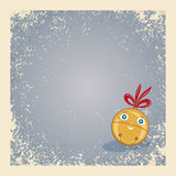 De achtergrond van Kerstmis/van de winter met gelukkige klok. Stock Fotografie