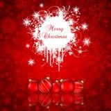 De achtergrond van Kerstmis van Grunge Stock Afbeelding