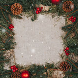 De achtergrond van Kerstmis van Grunge royalty-vrije stock afbeelding