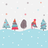 De achtergrond van Kerstmis van het beeldverhaal Royalty-vrije Stock Fotografie