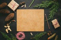 De achtergrond van Kerstmis of van het Nieuwjaar Stock Fotografie