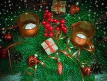 De achtergrond van Kerstmis of van het Nieuwjaar Royalty-vrije Stock Fotografie