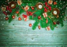 De achtergrond van Kerstmis of van het Nieuwjaar Royalty-vrije Stock Afbeelding
