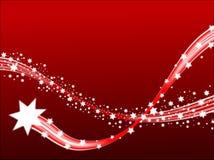 De Achtergrond van Kerstmis van kometen Royalty-vrije Stock Foto
