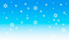 De achtergrond van Kerstmis van sneeuwvlokken Royalty-vrije Stock Foto