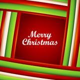 De achtergrond van Kerstmis van stroken met tekstruimte. Stock Foto