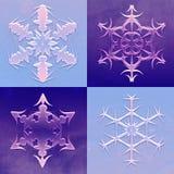 De Achtergrond van Kerstmis van vier Sneeuwvlokken Royalty-vrije Stock Foto's