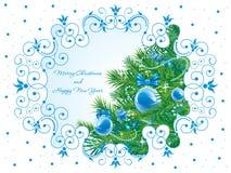 De achtergrond van Kerstmis. Vector. royalty-vrije illustratie