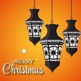 De achtergrond van Kerstmis Vector illustratie Royalty-vrije Stock Afbeelding