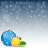 De achtergrond van Kerstmis Vector illustratie Royalty-vrije Stock Fotografie